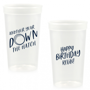 The ever-popular Clear 16 oz Stadium Cup with Matte Navy Ink Cup Ink Colors has a Dotted Frame 2 graphic and is good for use in Frames themed parties and will look fabulous with your unique touch. Your guests will agree!