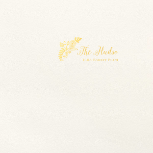ForYourParty's elegant Lettra Pearl White 110lb Invitation Envelope with Shiny 18 Kt Gold Foil has a Rustic Floral Accent 2 graphic and is good for use in Accents, Wedding, Anniversary themed parties and will look fabulous with your unique touch. Your guests will agree!