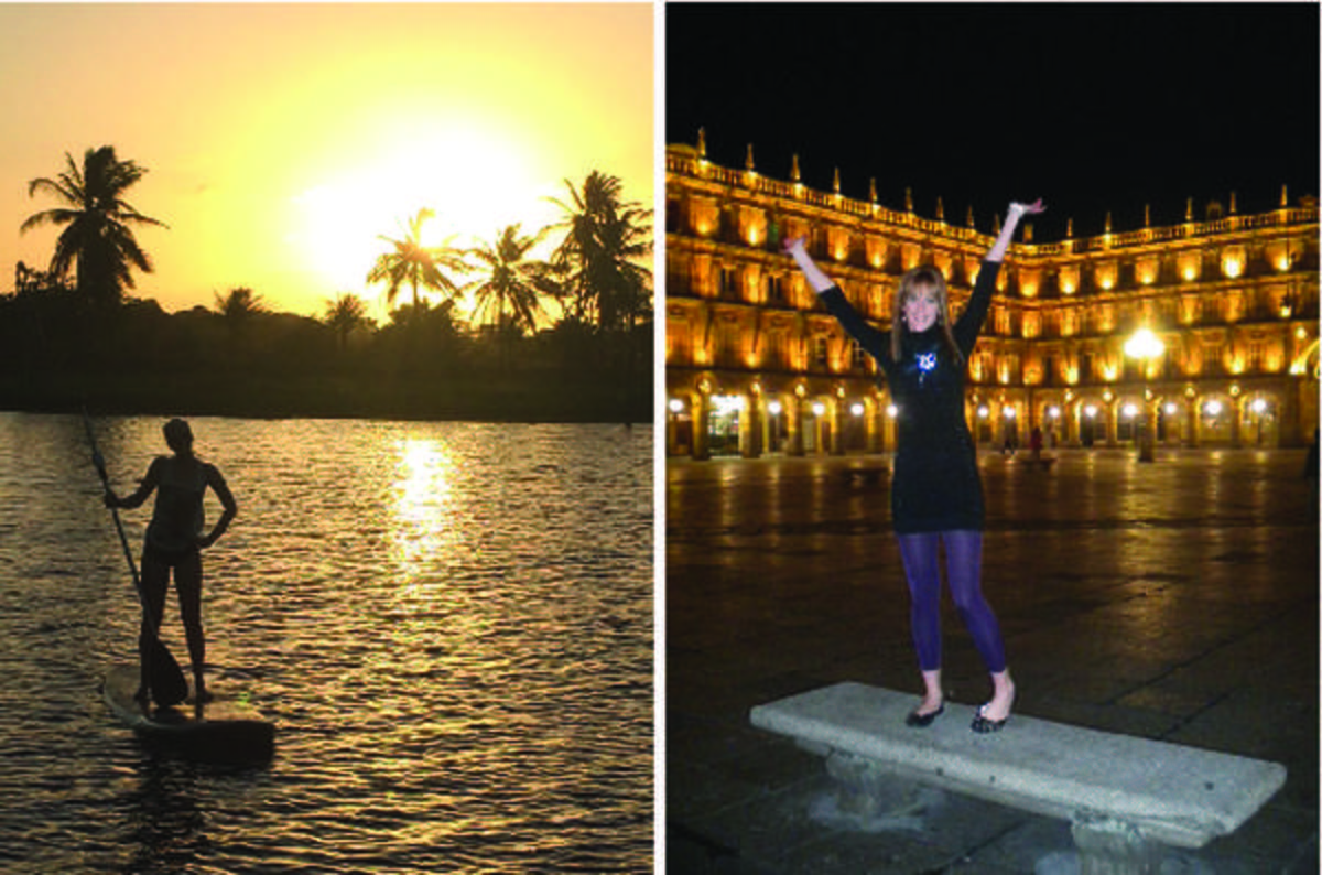 Stand-up paddle boarding in Brazil and Plaza Mayor in Salamanca, Spain