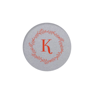 Our personalized Classic Crest Ivory Round Label with Matte Poppy Ink Digital Print Colors has a Rustic Wreath graphic and is good for use in Floral, Rustic, Wedding, Anniversary themed parties and will add that special attention to detail that cannot be overlooked.