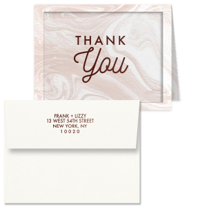 Simple Block Script Thank You Card