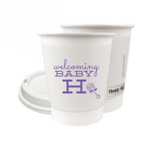 Our personalized Matte Grape Soda Ink 8 oz Paper Coffee Cup with Lid with Matte Grape Soda Ink Cup Ink Colors has a Baby Rattle graphic and is good for use in Baby Shower themed parties and can't be beat. Showcase your style in every detail of your party's theme!