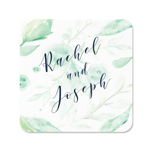 The ever-popular White Photo/Full Color Square Coaster with Matte Navy Ink Digital Print Colors can be personalized to match your party's exact theme and tempo.