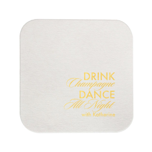 ForYourParty's chic Blush with Kraft back Nouveau Coaster with Shiny 18 Kt Gold Foil will give your party the personalized touch every host desires.
