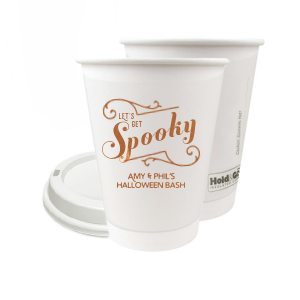 Our custom  8 oz Paper Coffee Cup with Lid with Copper Ink Cup Ink Colors has a Ornate Flourish graphic and is good for use in Halloween themed parties and will give your party the personalized touch every host desires.