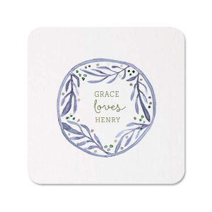 Water Leaf Frame Photo/Full Color Coaster