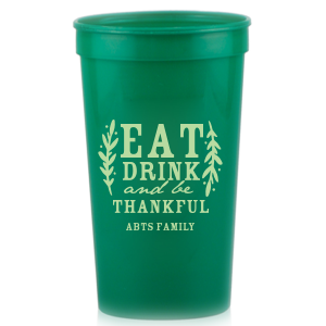 Our personalized Ivory 16 oz Stadium Cup with Matte Army Green Ink Cup Ink Colors will add that special attention to detail that cannot be overlooked.