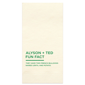 The ever-popular Aqua Cocktail Napkin with Matte Leaf Foil Color couldn't be more perfect. It's time to show off your impeccable taste and tell your guests fun facts that will get them talking.