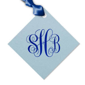 Our beautiful custom Stardream Sky Blue Luggage Gift Tag with Shiny Royal Blue Foil will impress guests like no other. Make this party unforgettable.