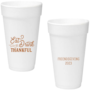 Our custom Copper Ink 16 oz Styrofoam Cup with Copper Ink Cup Ink Colors are a must-have for your next event—whatever the celebration!