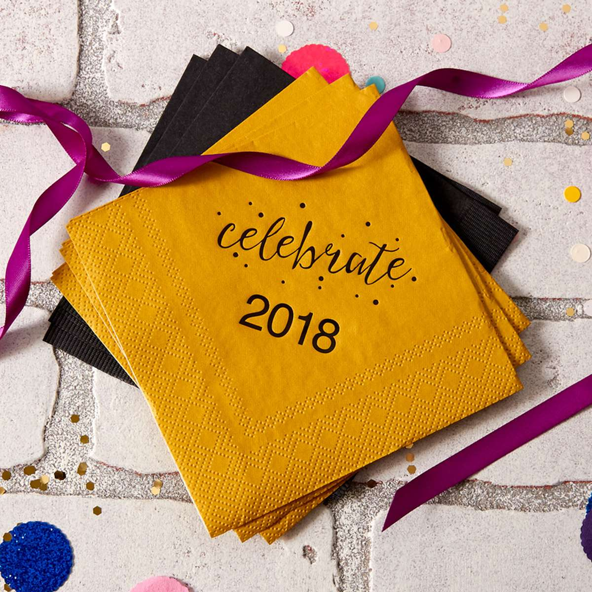2018 personalized cocktail napkins