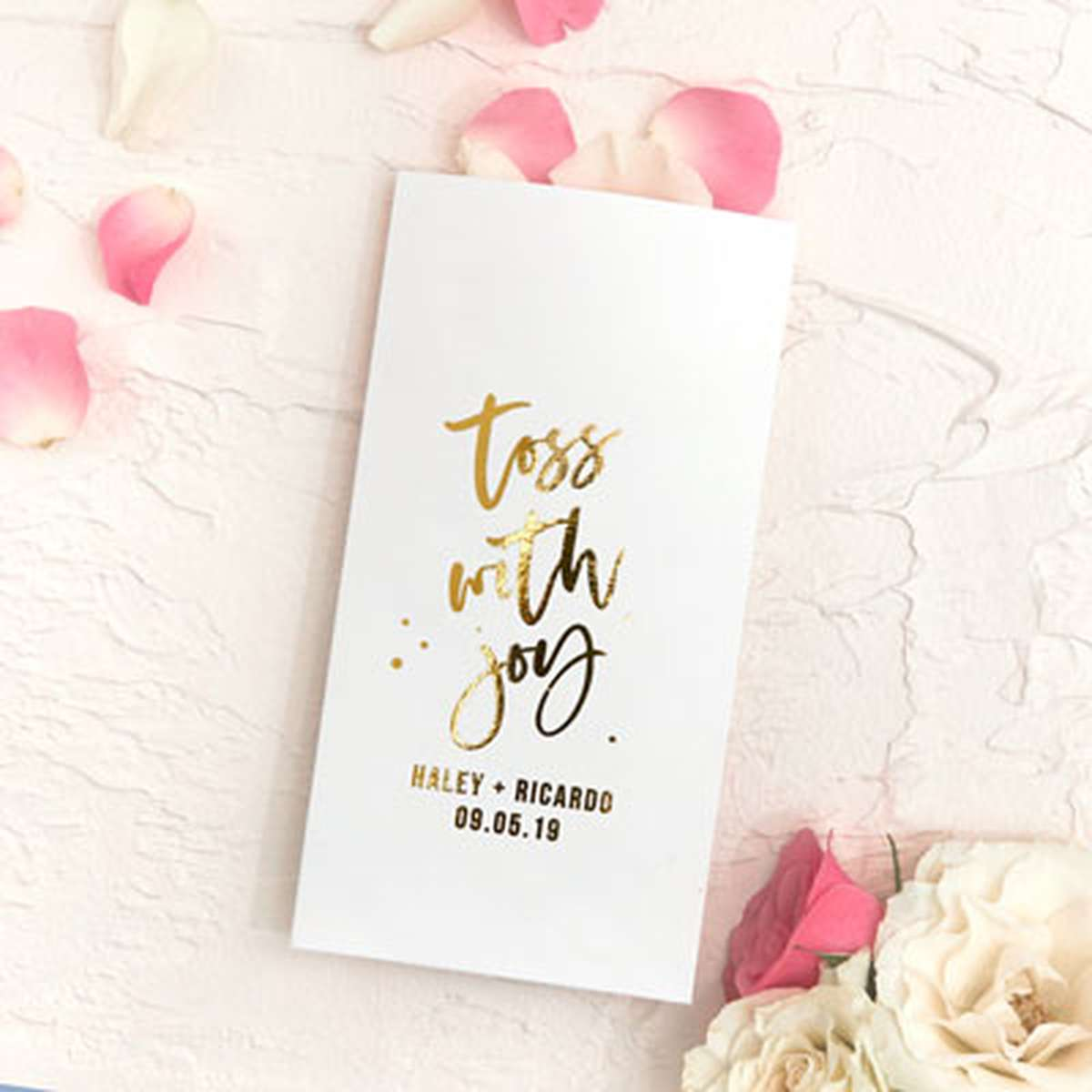 gold foil party pocket