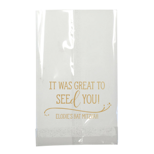 ForYourParty's elegant Satin 18 Kt. Gold Small Cellophane Bag with Satin 18 Kt. Gold Foil has a Fancy Flourish graphic and is good for use in Accents themed parties and can't be beat. Showcase your style in every detail of your party's theme!