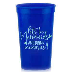 ForYourParty's chic Teal 16 oz Stadium Cup with Matte Mint Ink Cup Ink Colors has a Single flute graphic and is good for use in Drinks, Holiday, Wedding themed parties and can be personalized to match your party's exact theme and tempo.