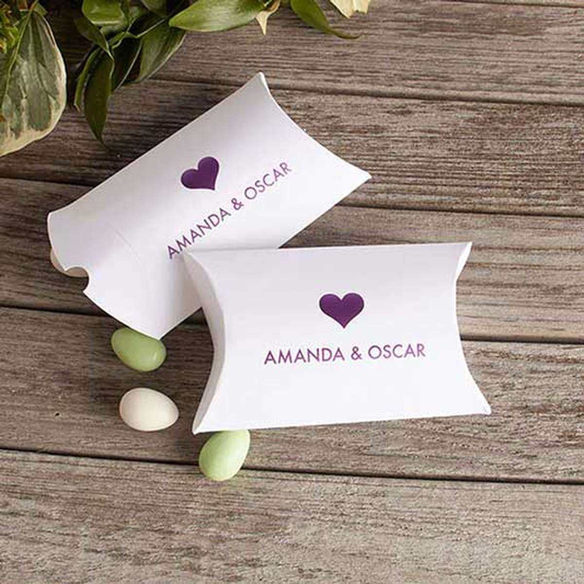 personalized party favor box pillow box