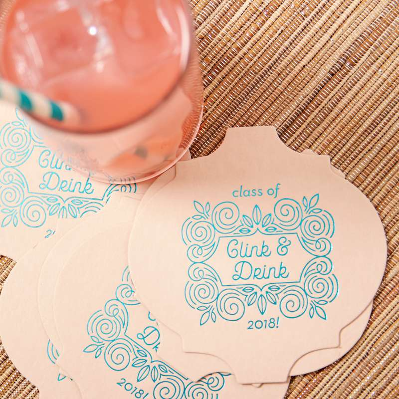 clink and drink foil party coaster