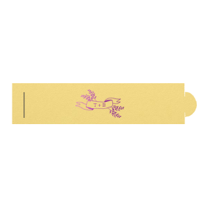 Our custom Poptone Mimosa Napkin Ring with Shiny Amethyst Foil Color has a Twig Banner graphic and is good for use in Wedding, Floral themed parties and can be customized to complement every last detail of your party.