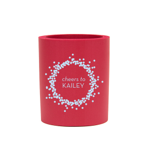 ForYourParty's elegant Red Slim Can Cooler with Matte Sky Blue Ink Cup Ink Colors has a Confetti Frame graphic and is good for use in Frames themed parties and can't be beat. Showcase your style in every detail of your party's theme!