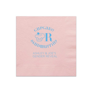 Our custom Ballet Pink Cocktail Napkin with Matte Azure Foil Color has a Kid Cupcake graphic and is good for use in Kid Birthday, Food, Birthday themed parties and will make your guests swoon. Personalize your party's theme today.