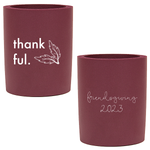 Our beautiful custom Mint Flat Can Cooler with Copper Ink Cup Ink Colors has a Leaf Pair graphic and is good for use in Floral, Thanksgiving, Outdoors themed parties and couldn't be more perfect. It's time to show off your impeccable taste.