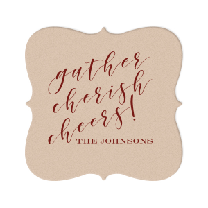 Gather Cherish Cheers! Coaster