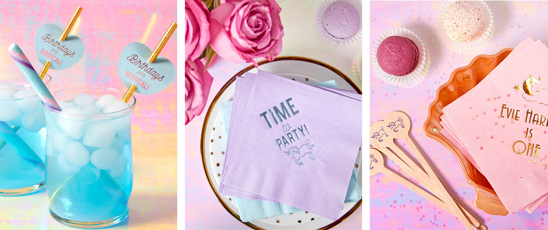 Unicorn and magic Themed Party supplies