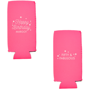 Our beautiful custom Neon Pink Flat Can Cooler with Matte Blush Ink Cup Ink Colors couldn't be more perfect. It's time to show off your impeccable taste.