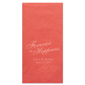 Our custom Coral Luncheon Napkin with Matte Pastel Pink Foil will impress guests like no other. Make this party unforgettable.