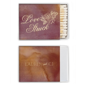 Custom Watercolor Sangria Classic Matchbox with Matte Ivory Foil has a Peony Accent graphic and is good for use in Floral, Engagement, Wedding and Bridal Shower themed parties and will make your guests swoon. Personalize your party's theme today.