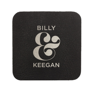 Our custom White Square Coaster with Matte Black Foil can be customized to complement every last detail of your party.