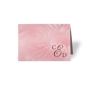 Monogram Corner Place Card