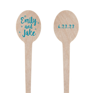Toast to the details! Add custom stir sticks to your bridal shower or engagement party festivities. They also made fantastic additions to wedding signature drinks and reception bar.