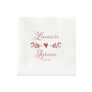 Romantic Names with Heart Napkin