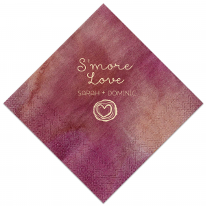 ForYourParty's chic Watercolor Sangria Patterned Cocktail Napkin with Matte Ivory Foil has a Tree Heart graphic and is good for use in Hearts, Frames, Wedding themed parties and will add that special attention to detail that cannot be overlooked.