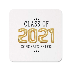 The ever-popular White Photo/Full Color Round Coaster with Matte Black Ink Digital Print Colors will give your party the personalized touch every host desires.