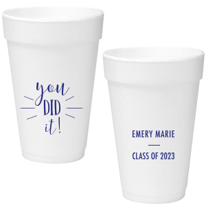 ForYourParty's elegant Matte Cobalt Ink 16 oz Styrofoam Cup with Matte Cobalt Ink Cup Ink Colors can't be beat. Showcase your style in every detail of your party's theme!