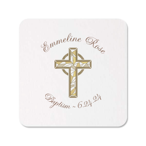 ForYourParty's chic White Photo/Full Color Square Coaster with Matte Chocolate Ink Digital Print Colors are a must-have for your next event—whatever the celebration!