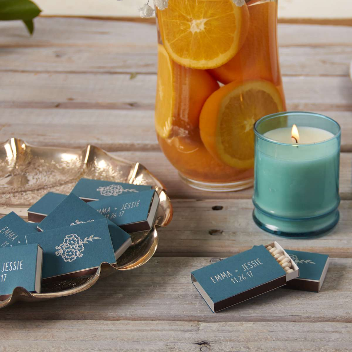 custom matches for personalized party favors