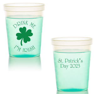 Our personalized White 16 oz Stadium Cup with Matte Leaf Ink Cup Ink Colors has a Four Leaf Clover graphic and is good for use in Holiday, St. Patricks Day themed parties and can't be beat. Showcase your style in every detail of your party's theme!