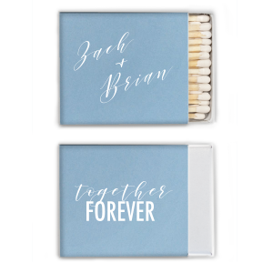 ForYourParty's chic Stardream Chambray Triangle Matchbox with Matte White Foil will impress guests like no other. Make this party unforgettable.