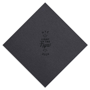 Our custom Mustard Gold Cocktail Napkin with Matte Black Foil Color has a Light the Night graphic and is good for use in Wedding themed parties and will give your party the personalized touch every host desires.