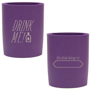 Our custom Purple Round Can Cooler with Matte Taupe Ink Cup Ink Colors has a Ornate Frame graphic and is good for use in Halloween themed parties and will make your guests swoon. Personalize your party's theme today.
