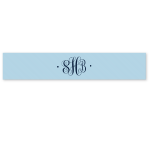 Romantic Monogram Ribbon