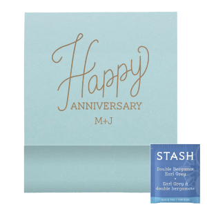 Cursive Happy Anniversary Favor