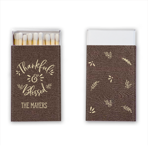 ForYourParty's personalized Brown Wood Classic Matchbox with Matte Ivory Foil will look fabulous with your unique touch. Your guests will agree!