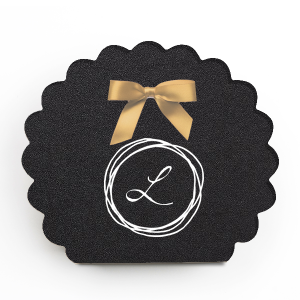 Personalized Stardream Black Rectangle Box with Matte White Foil has a Circle Doodle Frame graphic and is good for use in Frames themed parties and couldn't be more perfect. It's time to show off your impeccable taste.