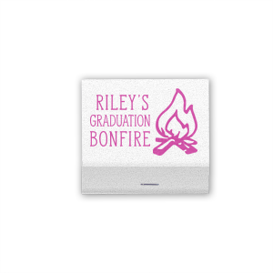 Personalized Shimmer Crystal White 30 Strike Matchbook with Satin Fuchsia Foil has a Campfire graphic and is good for use in Outdoors, Father's Day, Birthday and Adult Graduation themed parties and will make your guests swoon. Personalize your party's theme today.