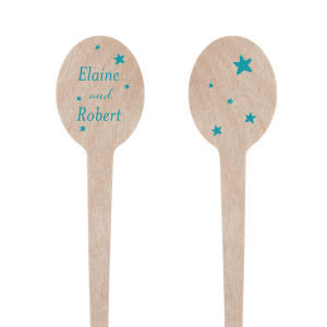 Our personalized Matte Teal/Peacock Rectangle Stir Stick with Matte Teal/Peacock Foil can be personalized to match your party's exact theme and tempo.