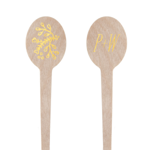 Our beautiful custom Shiny 18 Kt Gold Rectangle Stir Stick with Shiny 18 Kt Gold Foil Color has a Marigold Flourish graphic and is good for use in Accents themed parties and are a must-have for your next event—whatever the celebration!