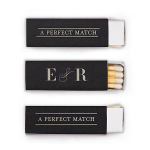 Our custom line frame matches will light up your wedding or special event.  Your guests will swoon over the elegant design and appreciate such a useful party favor. Personalize your party's theme today.